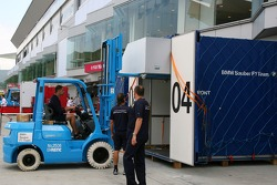 Containers outside BMW Sauber F1 Team