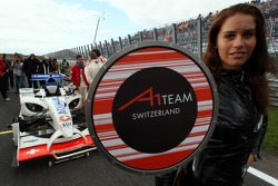 Neel Jani, driver of A1 Team Switzerland / Grid Girl
