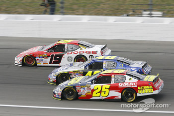 Casey Mears, Jimmie Johnson and Elliott Sadler