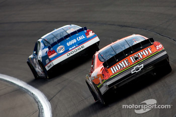 Tony Stewart and Kurt Busch