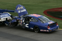 The wrecked car of Brian Scott