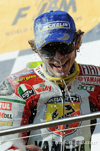 Podium: third place Valentino Rossi
