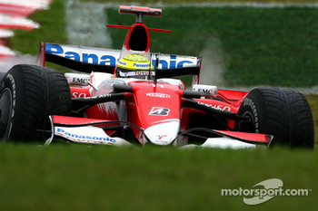 Ralf Schumacher, Toyota Racing, recovers from a spin