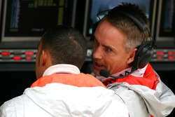 Lewis Hamilton, McLaren Mercedes and Martin Whitmarsh, McLaren, Chief Executive Officer
