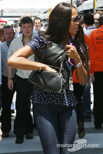 Naomi Campbell, Supermodel, In the paddock