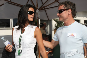 David Coulthard, Red Bull Racing and his fiancee Karen Minier
