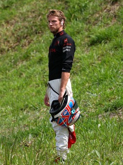 Jenson Button, Honda Racing F1 Team after retiring from the race