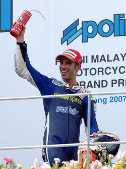 Podium: second place Marco Melandri