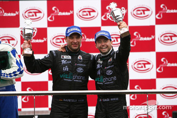 GT1 podium: third place Michael Bartels and Thomas Biagi