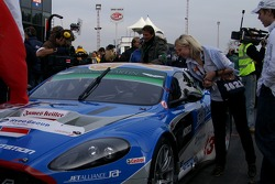 On pole, Jetalliance Racing Aston Martin DBR9: Karl Wendlinger, Ryan Sharp