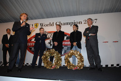 Luca di Montezemolo, Jean Todt, Kimi Raikkonen, Felipe Massa, Piero Ferrari