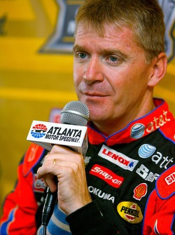 Jeff Burton speaks with the media