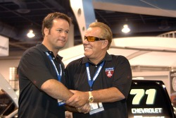 Robby Gordon and Ronn Bailey at SEMA  trade show in Las Vegas