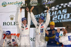 LMP1 podium: class and overall winners Marc Gene and Nicolas Minassian, second place Pedro Lamy and Stéphane Sarrazin, third place Jamie Campbell-Walter, Felipe Ortiz and Stuart Hall