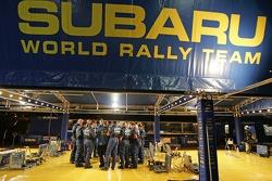 SWRT technicians gather for a team huddle