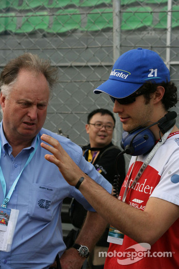Bruno Senna looks for sympathy from Barry Bland