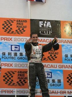 Oliver Jarvis celebrates victory