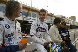 Jens Klingmann, Eifelland Racing, Christian Vietoris, Test Driver, BMW Sauber F1 Team, Esteban Gutierrez, Autotecnica and Augusto Farfus, Test Driver, BMW Sauber F1 Team