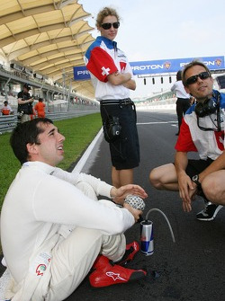 Neel Jani, driver of A1 Team Switzerland, Rahel Frey, driver of A1 Team Switzerland