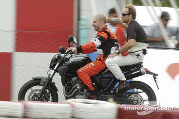 Tony Kanaan and Rubens Barrichello