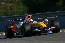 Nelson A. Piquet, Test Driver, Renault F1 Team, R27, slick tyres