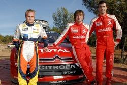 Heikki Kovalainen, Daniel Sordo and Sébastien Loeb