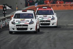 Final heat 1: Michael Schumacher and Heikki Kovalainen