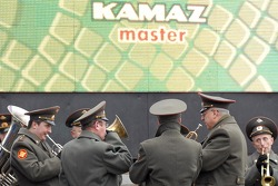 Kamaz-Master ceremonial start on the Red Square in Moscow: ambiance