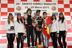 Winner KFJ: Kush Maini, Forza Racing, second place Colombo Lorenzo, FOCO Racing Team, third place Vidales David, Energy Corse