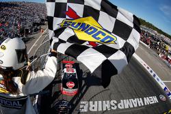 Austin Dillon takes the checkered flag