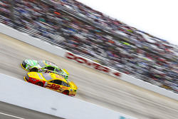 Joey Logano, Team Penske Ford and Kyle Busch, Joe Gibbs Racing Toyota