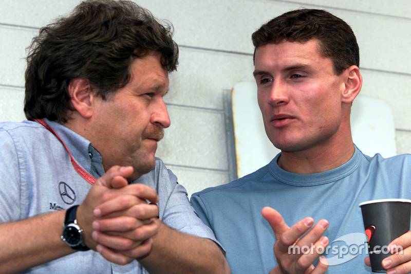 Norbert Haug and David Coulthard, McLaren