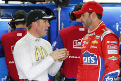 Jamie McMurray, Chip Ganassi Racing Chevrolet and Jimmie Johnson, Hendrick Motorsports Chevrolet