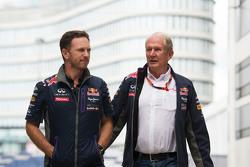 Christian Horner, Red Bull Racingteambaas met Dr Helmut Marko, Red Bull Motorsport Consultant