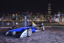 Formula E car in Hong Kong