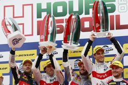 Podium: race winners Pierre Thiriet, Ludovic Badey, Nicolas Lapierre, Thiriet by TDS Racing