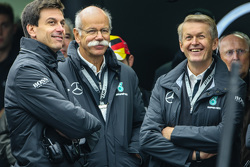 Toto Wolff, Mercedes AMG F1 aandeelhouder en Dieter Zetsche, Mercedes CEO