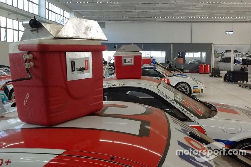Coolers para refrigeração dos pilotos da Porsche
