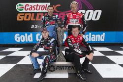 Mark Winterbottom and Steve Owen, Prodrive Racing Australia Ford with Garth Tander and Warren Luff, Holden Racing Team