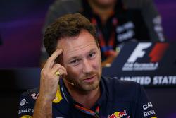 Christian Horner, Red Bull Racing teambaas in de FIA persconferentie