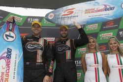 Race winners Shane van Gisbergen, Jonathon Webb, Tekno Autosports Holden