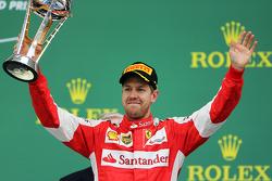 Podium: Derde plaats Sebastian Vettel, Scuderia Ferrari