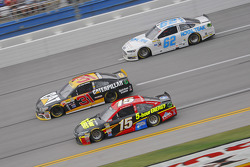 Clint Bower, Michael Waltrip Racing Toyota and Ryan Newman, Richard Childress Racing Chevrolet and Timmy Hill