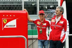Esteban Gutierrez, Ferrari Test and Reserve Driver and Maurizio Arrivabene, Ferrari Team Principal