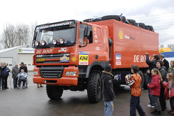 Team de Rooy departure event: assistance truck of Chris Colaers, Dick Spruijt and Clim Smulders