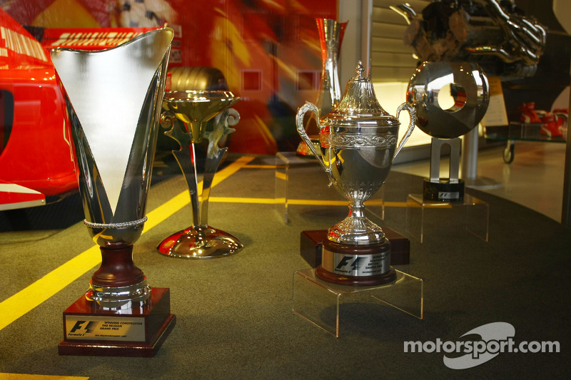 Constructors trophies from Grand Prix' won in 2007