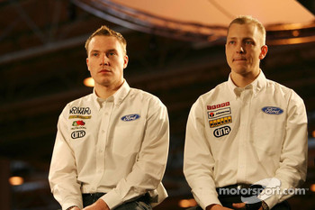 Jari-Matti Latvala and Mikko Hirvonen, Ford World Rally Team