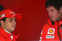 Felipe Massa, Scuderia Ferrari, Rob Smedly, Scuderia Ferrari, Track Engineer of Felipe Massa