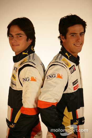 Nelson A. Piquet, Renault F1 Team, Lucas Di Grassi, Test Driver, Renault F1 Team