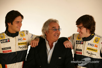 Fernando Alonso, Renault F1 Team, Flavio Briatore, Renault F1 Team, Team Chief, Managing Director, Nelson A. Piquet, Renault F1 Team